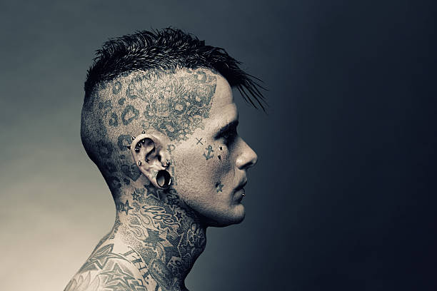 tattoo artist portrait - nose ring stock pictures, royalty-free photos & images