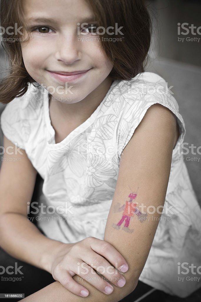 Tattoo Artist Schoolgirl royalty-free stock photo