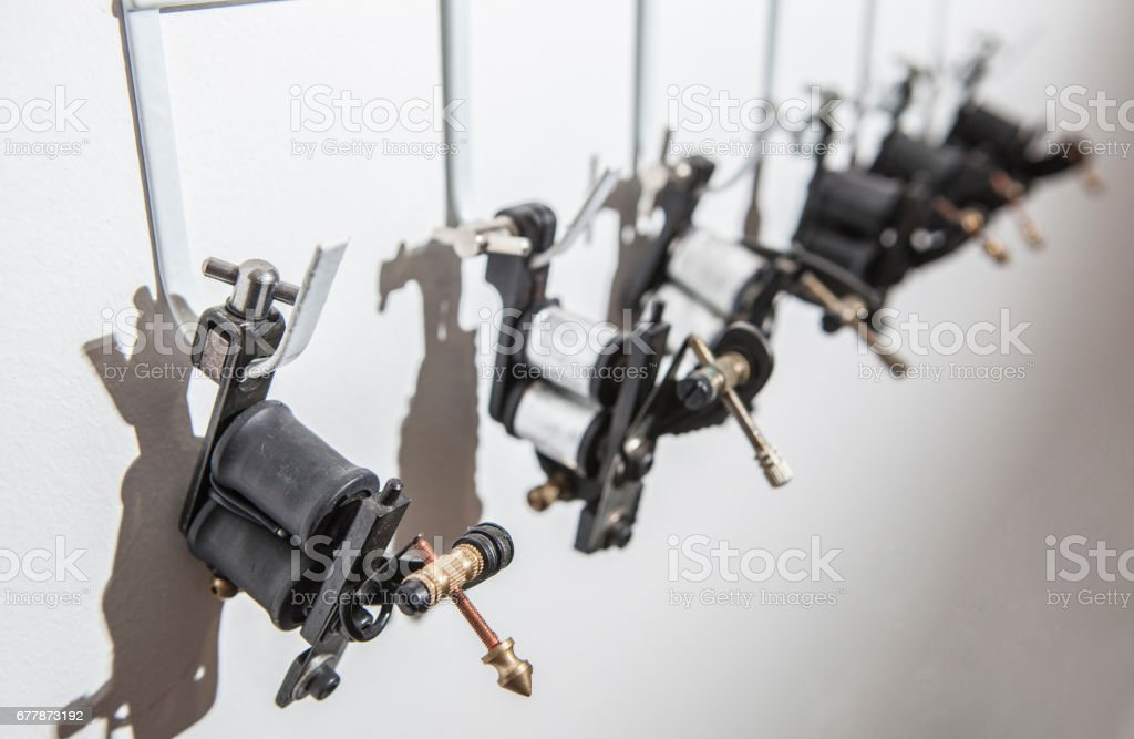 Noir Silencieux Moteur Rotatif Tatouage Libellule Pistolet pour Liner Shader.