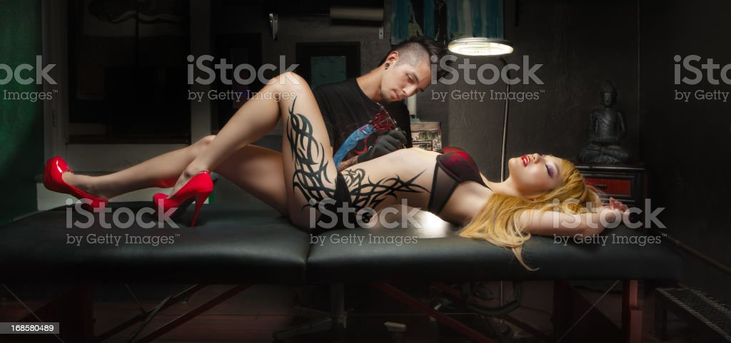 Tattoo culture royalty-free stock photo