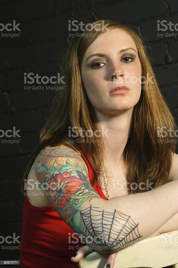 Tattoo Girl 2 royalty-free stock photo
