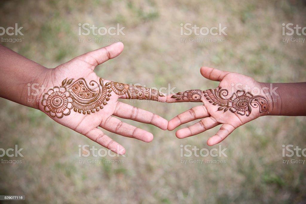 tattoo henna art stock photo