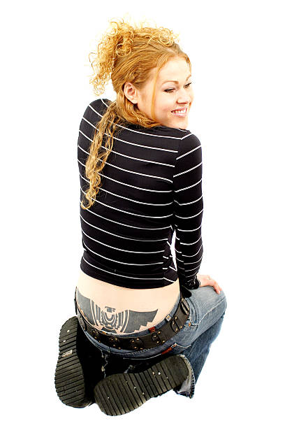 tätowierung - unterer rücken tattoos stock-fotos und bilder