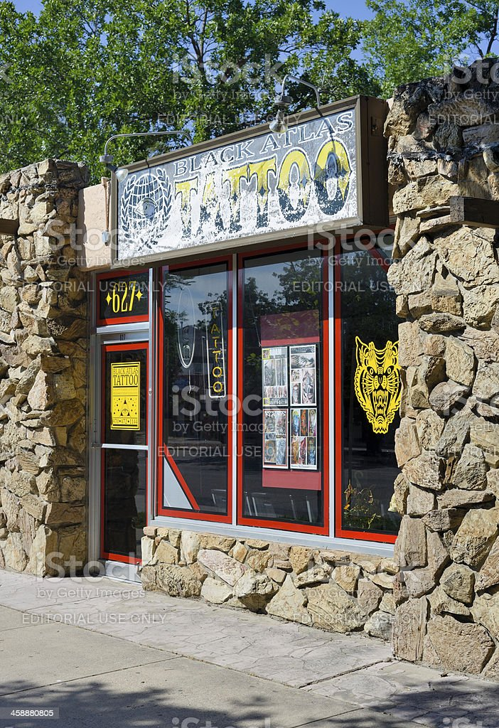 Tattoo Shop, Fort Collins, Colorado royalty-free stock photo
