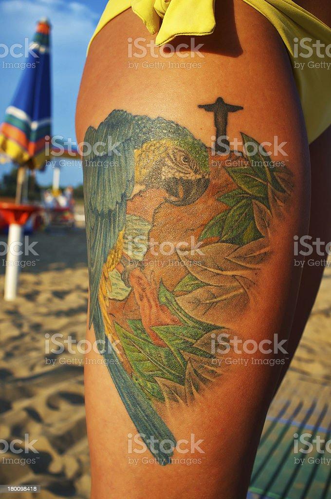 tattoo symbols of Rio de Janeiro Brazil royalty-free stock photo