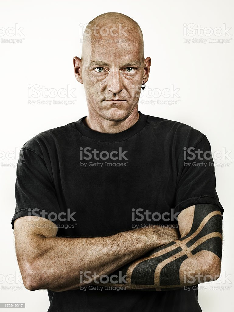 tattooed and pierced adult stock photo