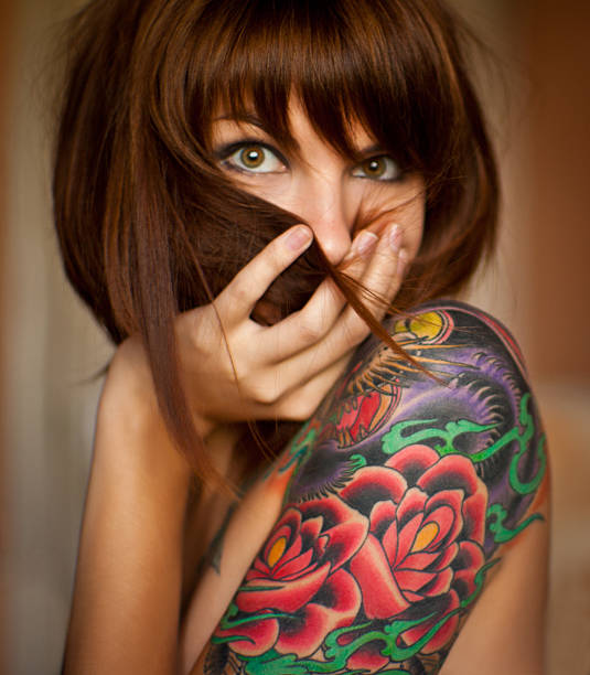 Tattoo Girls - foto stock