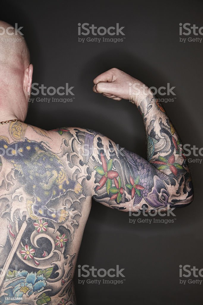 Tattooed Man stock photo