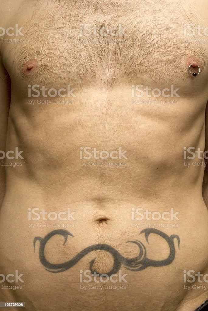 Tattooed Tummy stock photo