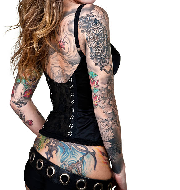 Tattoo donna - foto stock