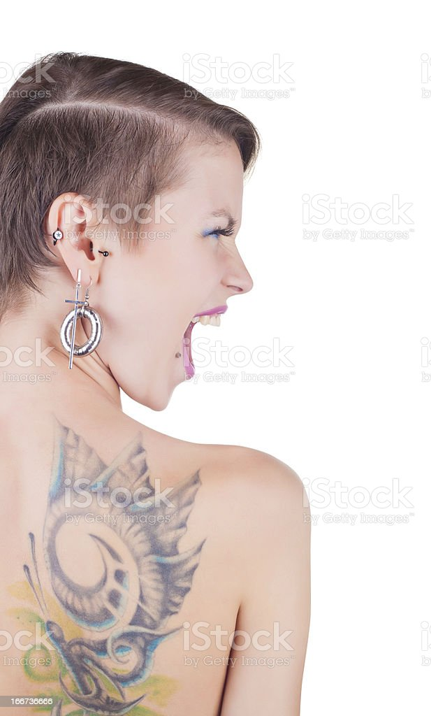 Tattoos and piercings stock photo