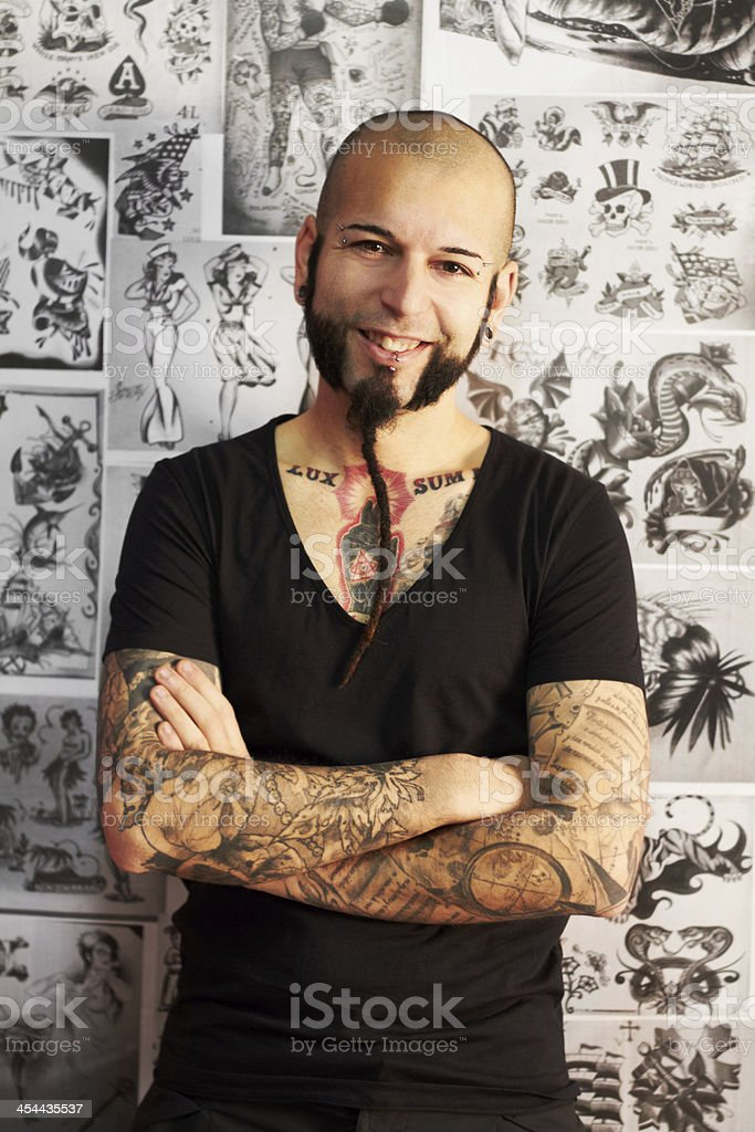 Tattoos are my passion stock photo