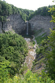 Taughannock Falls State Park - Ithaca, New York waterfall geology summer