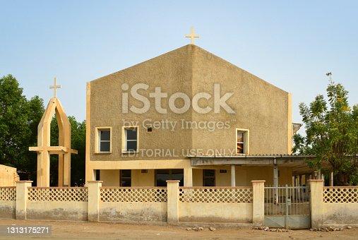 istock Taulud Island - Evangelical Church facade, Massawa, Eritrea 1313175271