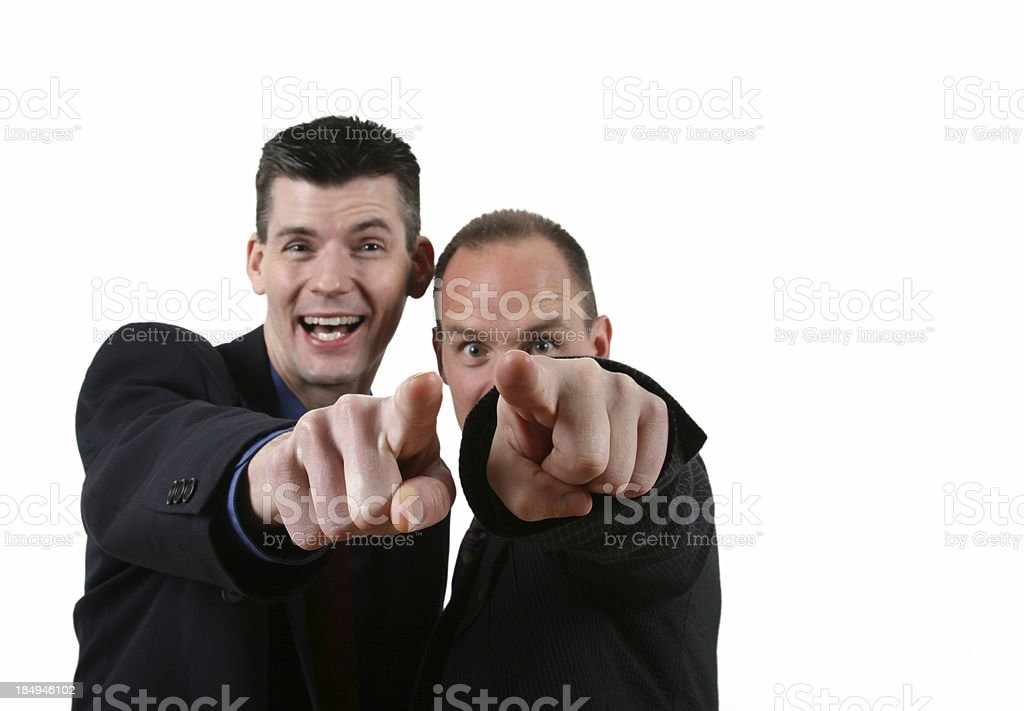 Taunting Businessmen royalty-free stock photo