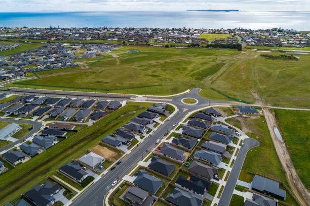 Tauranga Aerial View stock photo