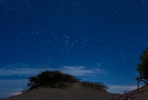 Tauro and Pleiades Over Bani Dunes, Dominican Republic