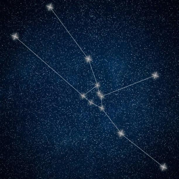 boğa takımyıldızı. zodyak işareti boğa takımyıldızı satırları galaxy arka plan - boğa hayvan stok fotoğraflar ve resimler