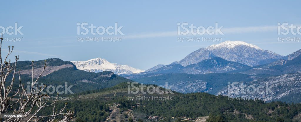 Taurus mountains clear sky zbiór zdjęć royalty-free