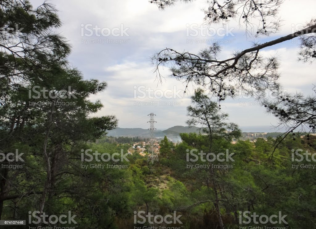 Taurus Mountains (Bati Toroslar). Forest in the mountains of Turkey. Nature of Asia Minor royalty-free stock photo