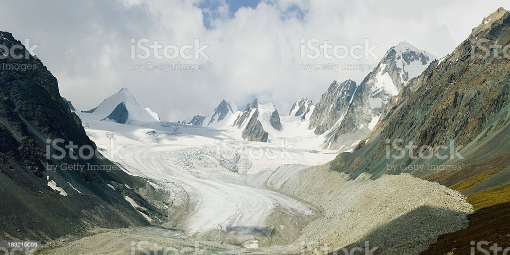 Tavan Bogd Glacier, Mongolia stock photo
