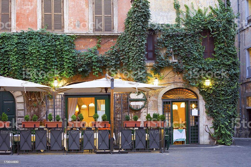 Tavern, Rome, Italy stock photo