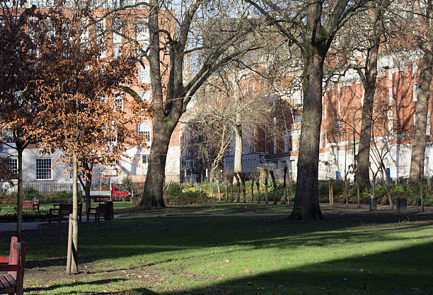 Tavistock Square in Camden, London stock photo