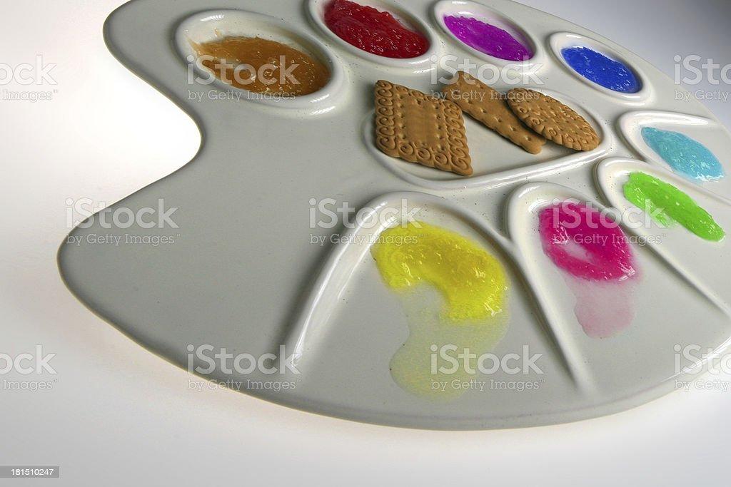 tavolozza colori royalty-free stock photo