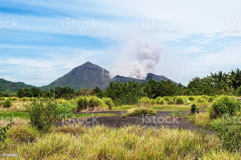 Tavurvur volcano, Rabaul, Papua New Guinea stock photo