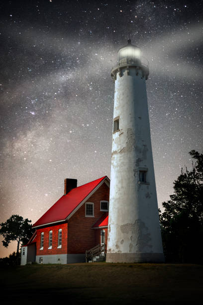 Tawas Lighthouse stock photo