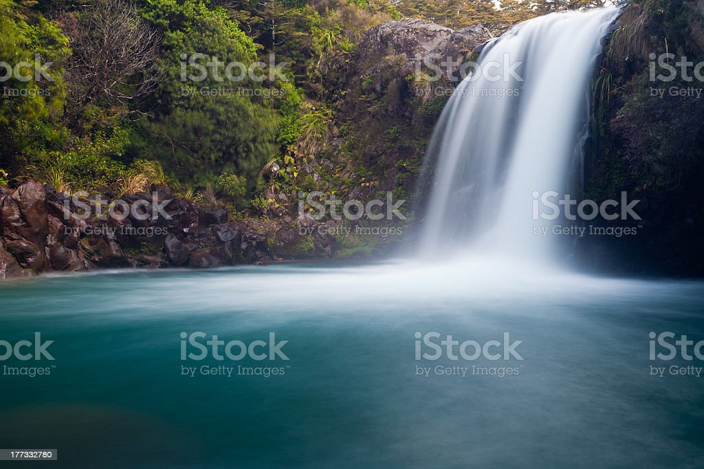 Tawhai Falls in Tongariro NP, New Zealand stock photo