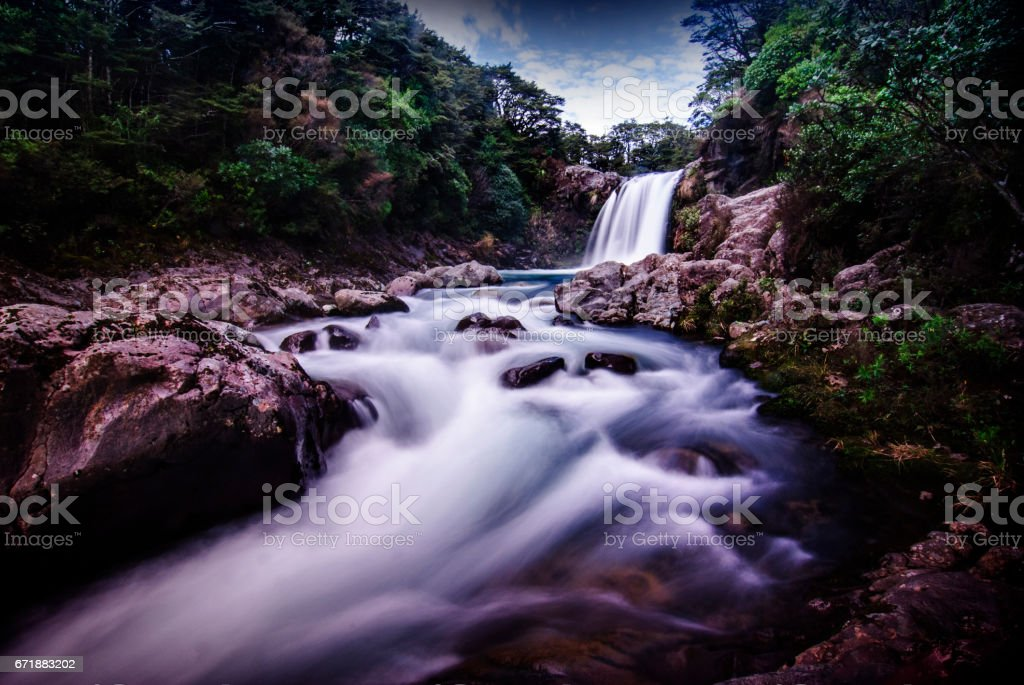 Tawhai Falls stock photo