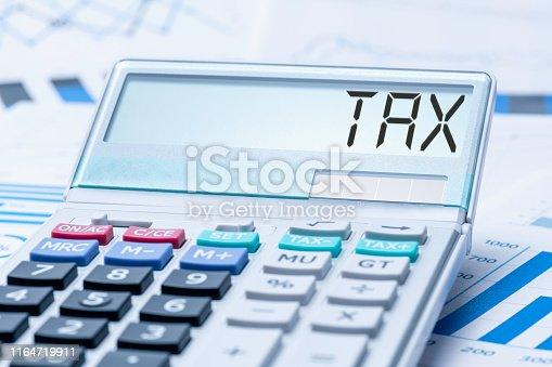 istock Tax Accountancy Chart 1164719911