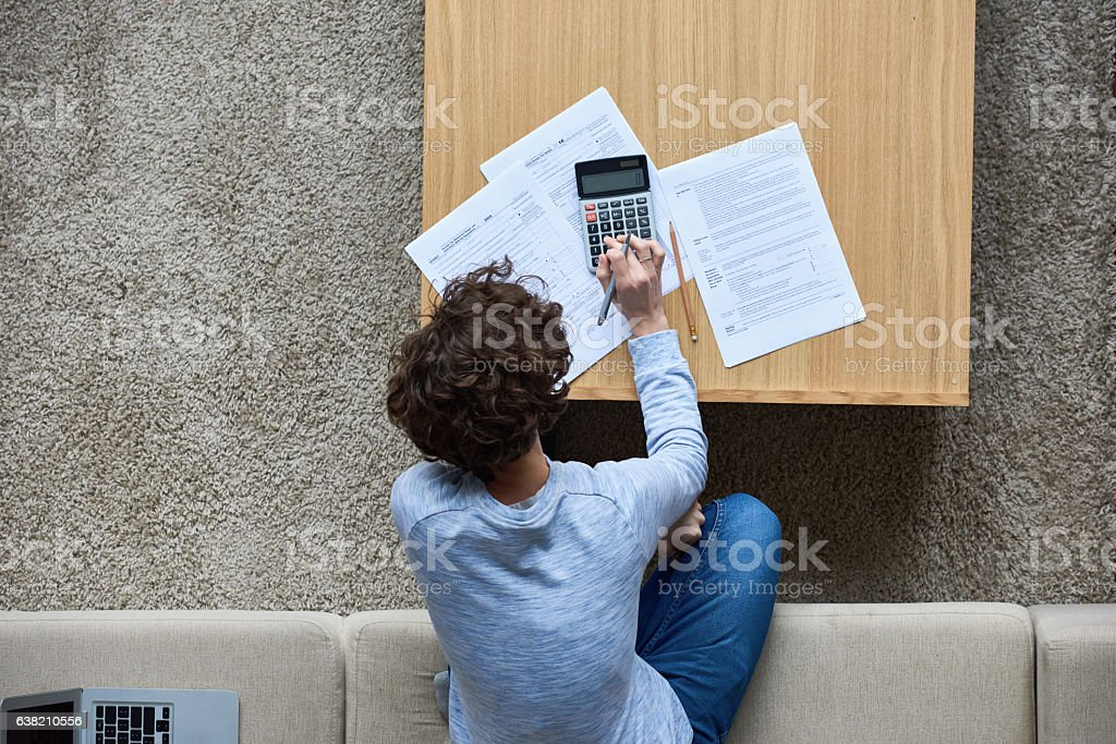 Tax affairs stock photo