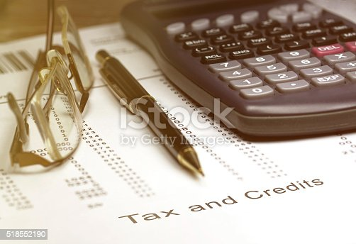 istock Tax and credits concept 518552190