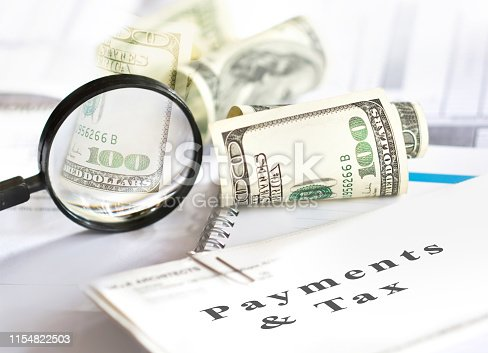 1136634036 istock photo Tax and payments. Business and tax concept. 1154822503