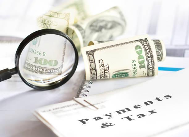 Steuern und Zahlungen. Unternehmens-und Steuerkonzept. – Foto