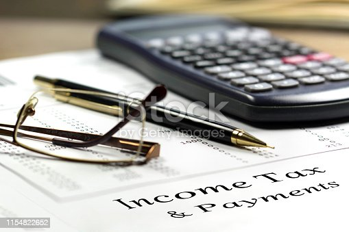 1185240988 istock photo Tax and payments. Business and tax concept. 1154822652