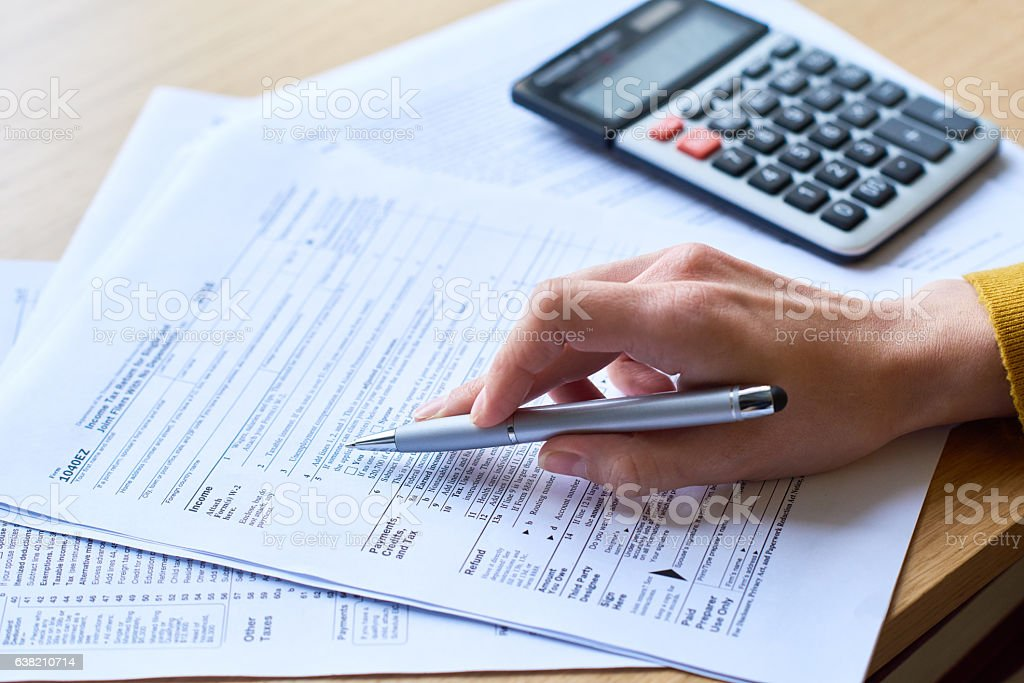 Tax audit stock photo