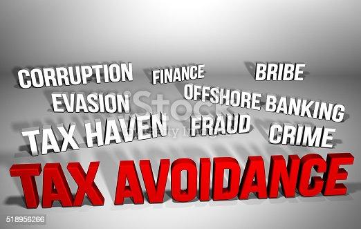 istock Tax Avoidance & Related Words 518956266