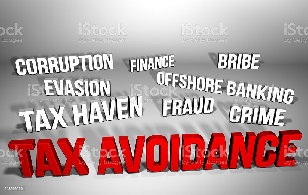 Tax Avoidance & Related Words stock photo