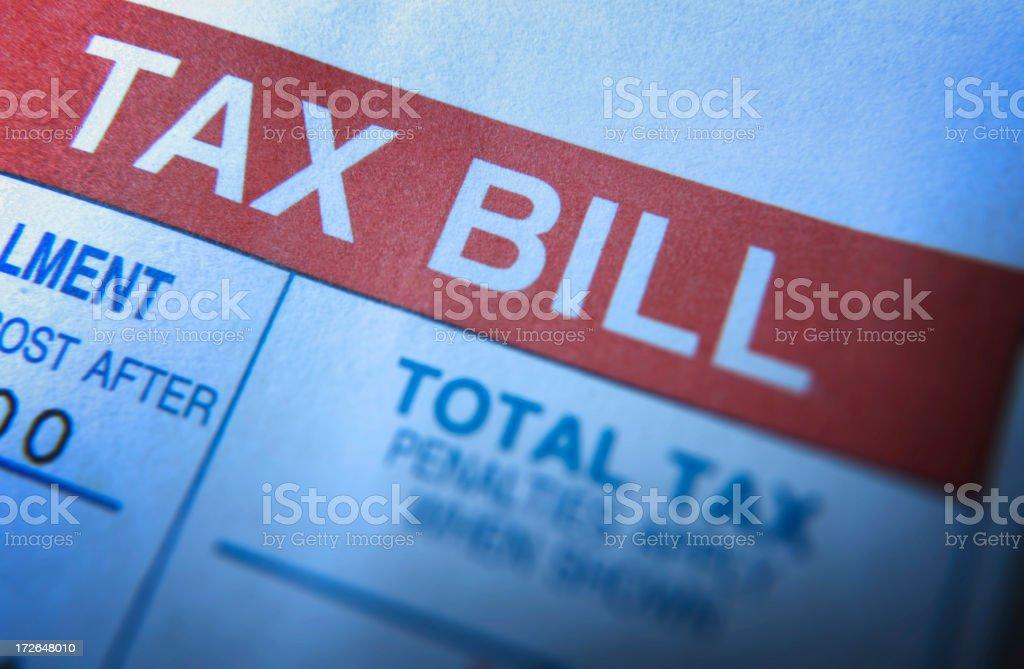 Tax Bill royalty-free stock photo