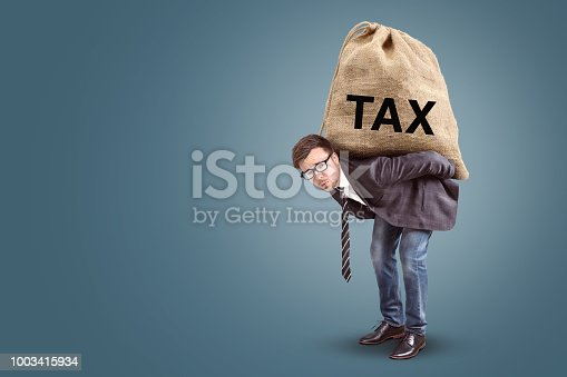 istock Tax burden concept with copy space 1003415934