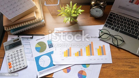 istock Tax calculate 1168907189