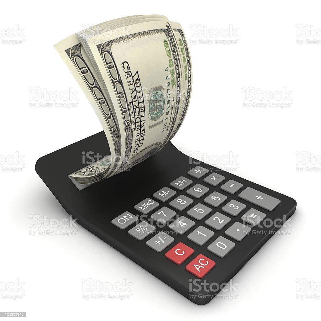 Tax Calculator royalty-free stock photo