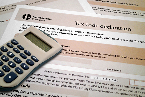 Tax Code Declaration Form From New Zealand Stock Photo