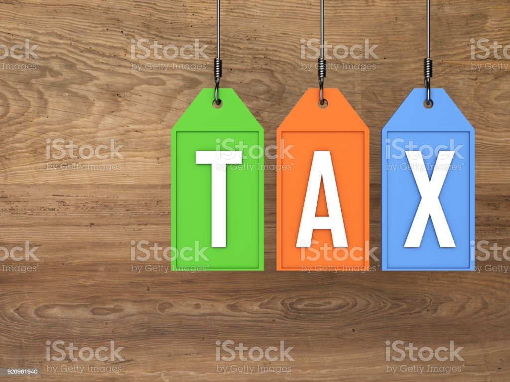 Tax concept - 3D Rendering Image stock photo