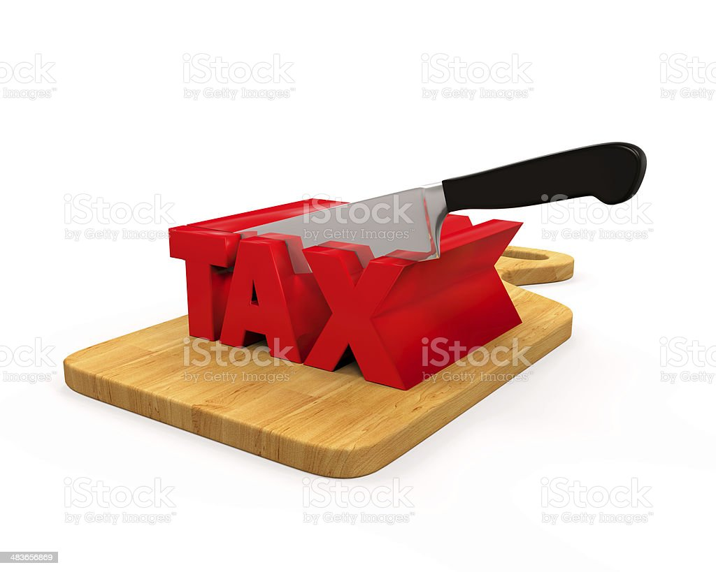 Tax Cut Concept royalty-free stock photo