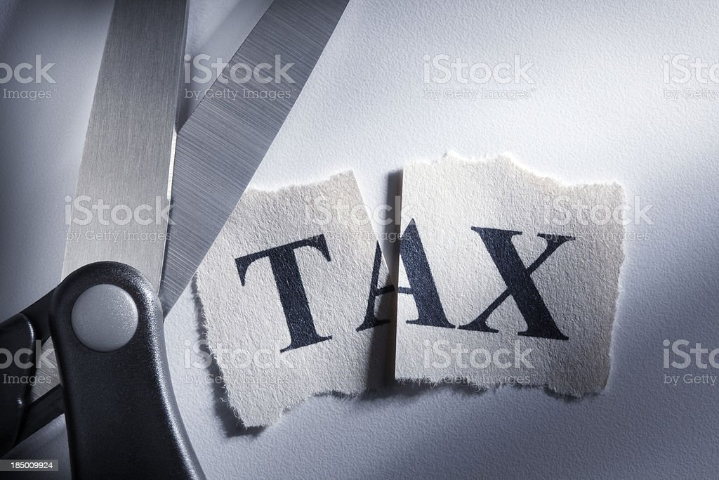 Tax Cut stock photo