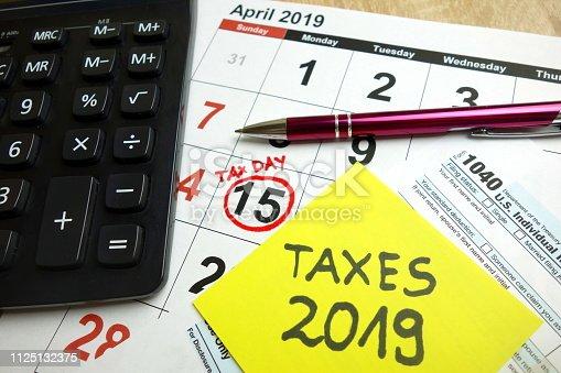 istock Tax day 2019 1125132375